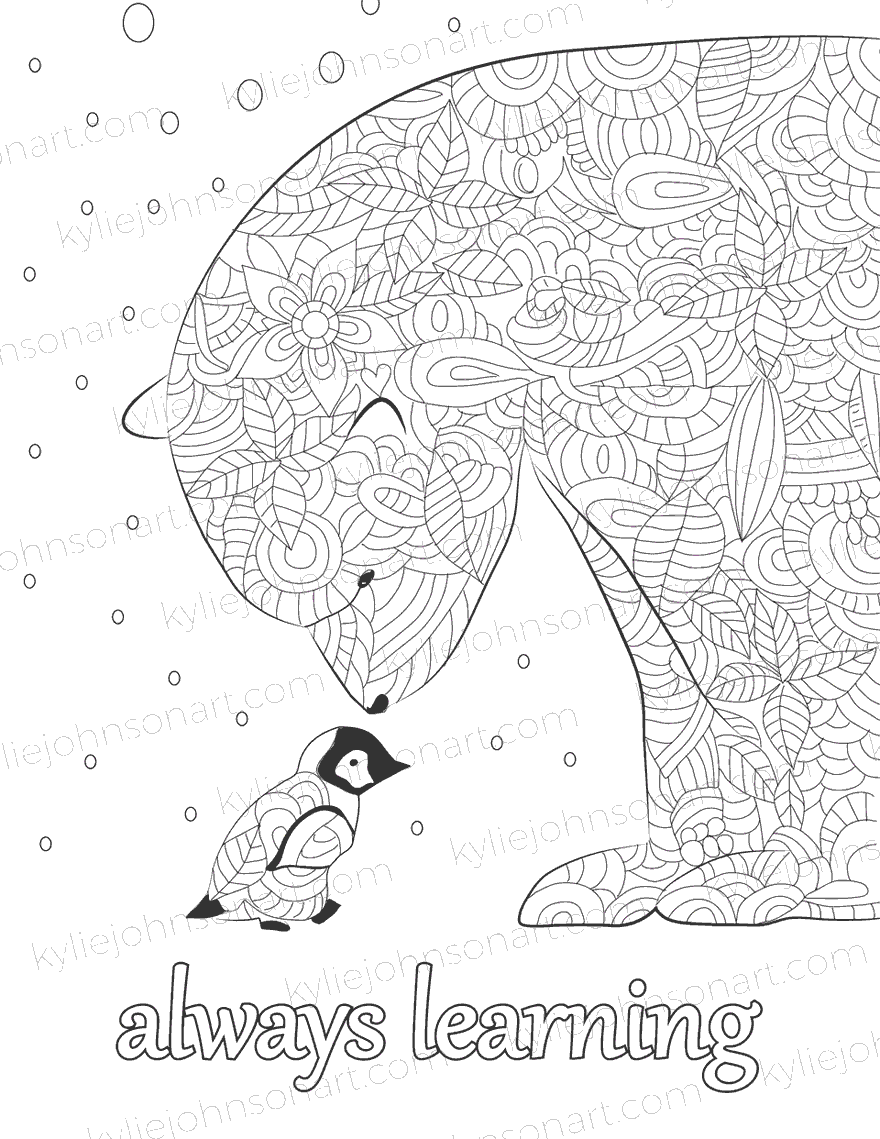 mindfulness colouring with affirmations kylie johnson art