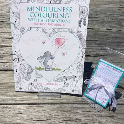 Book + Affirmations Colouring Cards