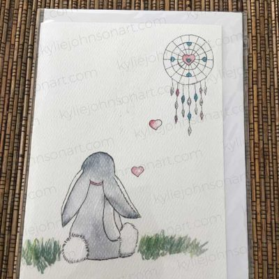 Bunny With Dream Catcher