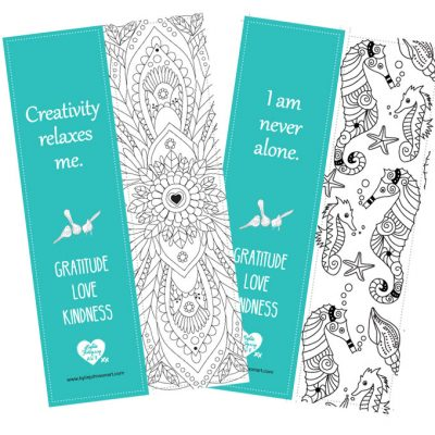 Colouring Bookmarks With Positive Affirmations Digital Download